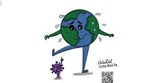 أوقف العالم بأسره على ساق واحدة هكذا جسدت رسامة عراقية فيروس
