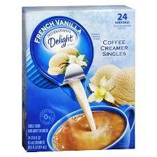 coffee creamer singles french vanilla