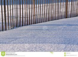 Shadows From A Snow Fence In The Winter Stock Photo Image Of Shadow Sunlight 109877204