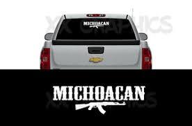 Michoacan Ak Decal Sticker Front Back Window Mexico Michoacano Emblema Ebay