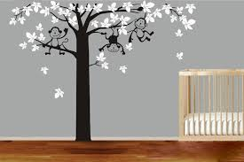 Large Size Monkey Tree Vinyl Wall Stickers Home Decor Wall Stickers Fo Ellaseal