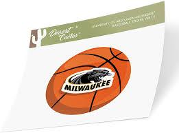 Amazon Com University Of Wisconsin Milwaukee Uwm Panthers Ncaa Vinyl Decal Laptop Water Bottle Car Scrapbook Basketball Logo Sticker Arts Crafts Sewing