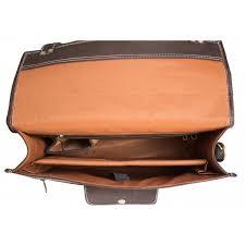 15 inch uni black leather messenger bag