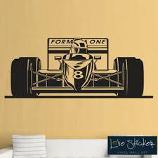 Wall Stickers Formula 1 Car Cool Racing Boys Bedroom Kids Art Decals Vinyl Home Ebay