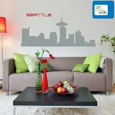 Seattle Skyline Wall Decal Notorious For Their Coffee Especially Being The Birthplace Of Starbucks Coffee Seattle Has Wall Decals Love Wall Decal Wall Art
