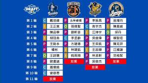 阿不就好棒棒: 2018 中華職棒選秀結果與分析