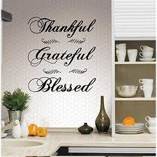 Decal Thankful Grateful Blessed Wall Decal 20 X 24 Walmart Com Walmart Com