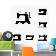 Sewing Machine Silhouettes Wall Decal Wallmonkeys Com