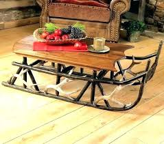 cutter sleigh coffee table horse drawn