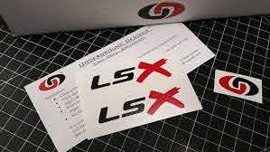 Amazon Com Underground Designs Lsx Decals Ls1 Ls6 Ls2 Ls3 Ls7 Stroker Hood Sticker Variations Select Color Lsx Gloss Black Red Automotive