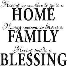 Amazon Com Having Somewhere To Go Is A Home Family Blessing Quotes Wall Decal Removable Vinyl Wall Stickers Living Room Decor Home Kitchen