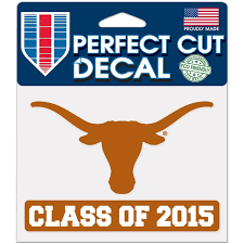 Texas Car Decals Texas Longhorns Bumper Stickers Decals Fanatics