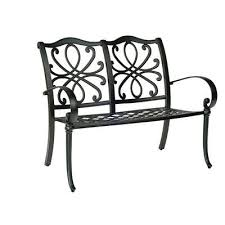 woodard holland aluminum garden bench