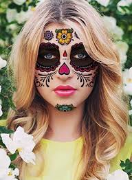 dead makeup ideas with sticker decals