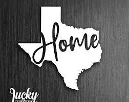 Texas Vinyl Decal Etsy
