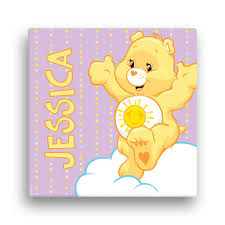 Fingerhut Care Bears Funshine Bear 12 X 12 Canvas Wall Art