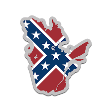 Quebec Shaped Rebel Confederate Flag Decal Qc Map Sticker Rotten Remains High Quality Stickers Decals