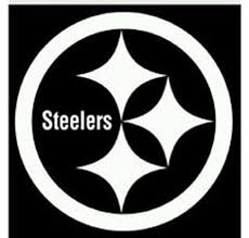 Amazon Com Steelers Vinyl White Sticker 12 X 12 Sports Outdoors