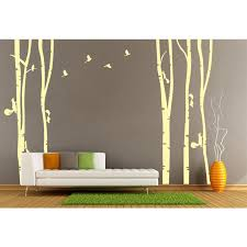 Personalized Tree Birds Vinyl Wall Sticker Mural Removable Room Decorative Large Yellow Tree Yellow Birds Wall Decals Home Decor Bird Wall Decal Room Decorationhome Decor Aliexpress