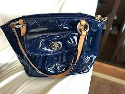 coach 14729 navy embossed patent