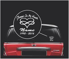 Car Infinity Heart In Loving Memory Window Decal Sticker Custom Sticker Shop