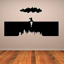 Bioshock Worlds Wall Sticker Bio Shock Wall Decal Art Available In 5 Sizes And 25 Colours Medium Burgundy Amazon Co Uk Kitchen Home