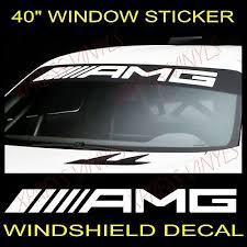 Amg Mercedes Benz Windshield Vinyl Decal Sticker Custom 40 Vehicle Graphic Ebay