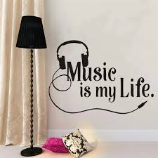 Musical Wall Decal Sing Lovers Wall Decal Quote Vinyl Wall Sticker Teen Boys Room Modern Music Wall Mural Home Decor Ay1270 Wall Stickers Aliexpress