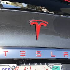 Tesla Front Rear Tesla T Decals 10 A Pair