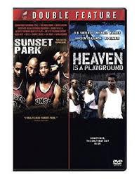 Rhea Perlman & Fredro Starr & Randall Fried & Steve Gomer -Sunset Park /  Heaven Is a Playground | Playground, Park, Basketball scoreboard