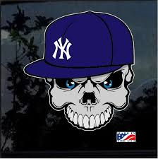 Ny Yankees Skull And Cap Full Color Decal Sticker Custom Sticker Shop
