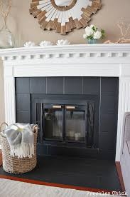 fireplace tile mini facelift with