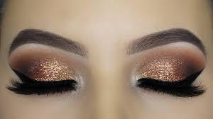 golden glitter eye makeup tutorial