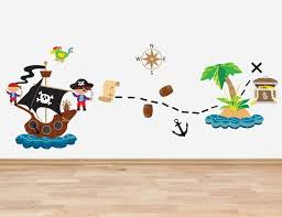 Pirate Theme Decal Set Wall Stickers Full By Thewallstickercomp Bedroom Stickers Pirate Kids Room Sticker Wall Art