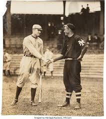 Circa 1911 Walter Johnson & Christy Mathewson Original Photograph, | Lot  #80016 | Heritage Auctions