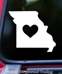 Missouri Heart State Vinyl Decal Sticker 6 X 5 25 Love Mo Minglewood Trading