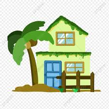 Double Storey Small Building Coconut Tree Plant Fence Psd Diagram Door Window Png Transparent Clipart Image And Psd File For Free Download