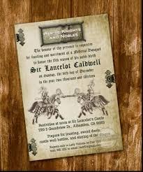 Medieval Wedding Invitations