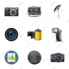 مجموعة صور ايقونات التصوير الفوتوغرافي فوتوغرافي رمز ناقلات Png