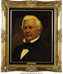 Millard Fillmore and Abigail Fillmore Oil Portraits by Lawrence   Lot  #61216   Heritage Auctions