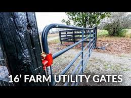 Installing 16 Foot Utility Farm Gates For Our Driveway Youtube
