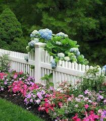 Love To See Colorful Flower Beds Along Picket Fences Photo Pinterest Front Yard Landscaping Front Landscaping Fence Landscaping