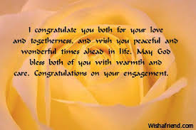 engagement wishing quotes