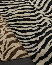 traditional zebra rug at horchow