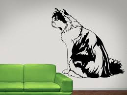 Persian Calico Cat Wall Decal Vinyl Decals Nuovocreations Com Nuovocreations