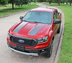 2019 2020 Ford Ranger Hood Stripes Nomad Hood Decals Vinyl Graphics Kits
