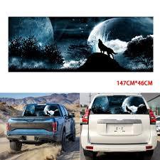 Super Sale 23bc4c Car Rear Window Tailgate Wolf Howling Moon Galaxy Sticker 147cm X 46cm Decal For Truck Suv Car Decoration Cicig Co