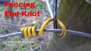 Fencing Knot 1 End Or Termination Knot Youtube