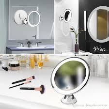 360 degree rotation 10x makeup mirror