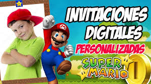 Video Invitacion Virtual De Cumpleanos Super Mario Bros Youtube